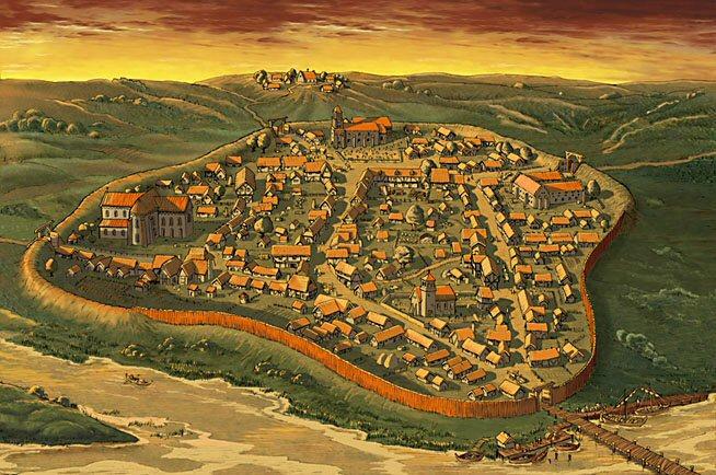 Randers omkring 1350, dag